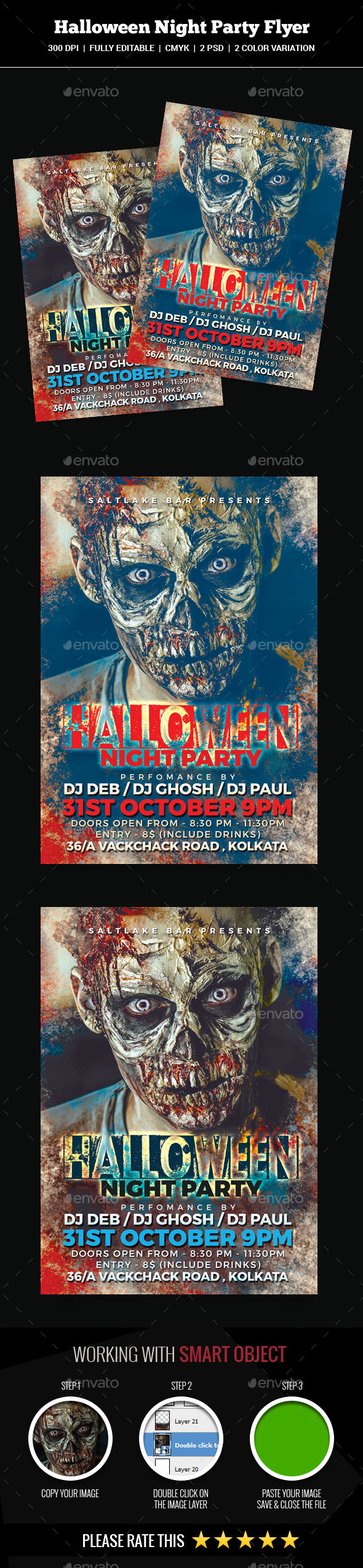 GraphicRiver Halloween Night Party Flyer 20812330