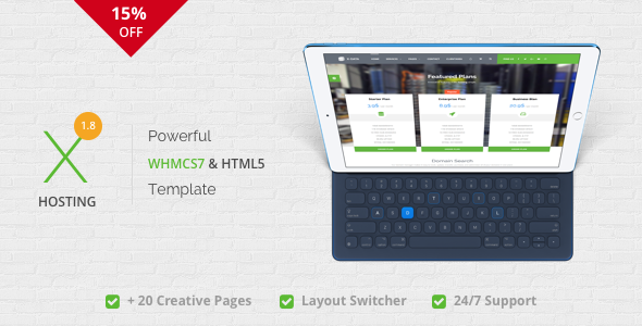 X-DATA - WHMCS7 & HTML5 Powerful Web Hosting Template - Hosting Technology