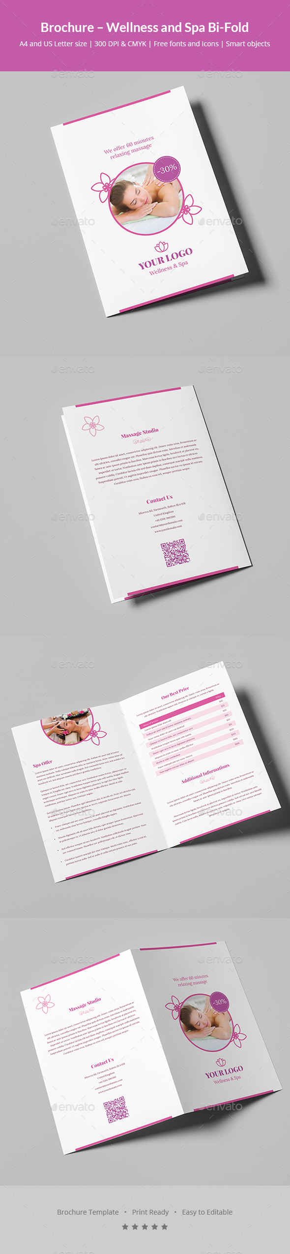 Massage Brochure Graphics, Designs & Templates from GraphicRiver