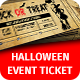 Halloween Event Ticket Template - GraphicRiver Item for Sale