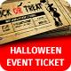 Halloween Event Ticket Template