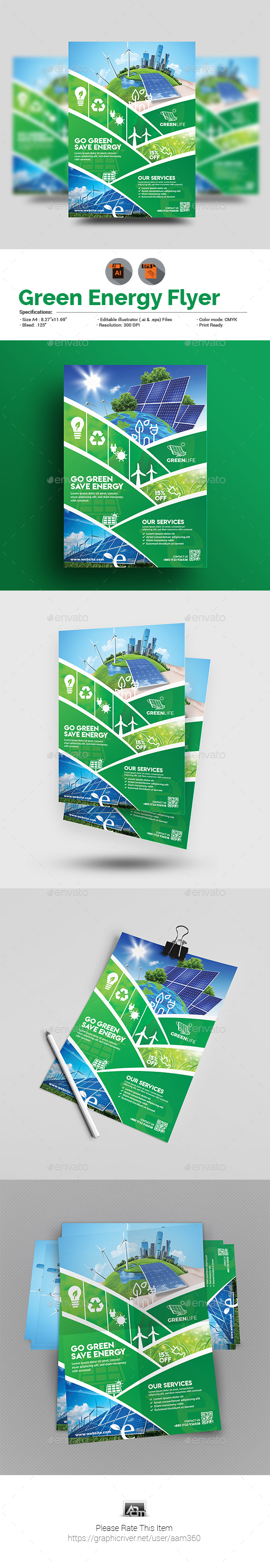 GraphicRiver Green Energy Flyer Template 20812401