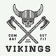 Vintage Vikings Emblems - GraphicRiver Item for Sale