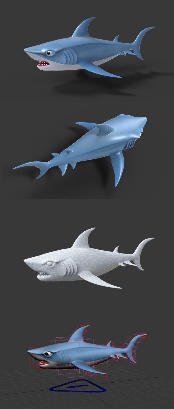 3DOcean Cartoon Shark 20812438