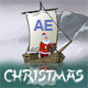 Christmas And New Year Animated Card Santa Claus In Asia