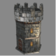 Battle Tower - Low Poly Game Asset - 3DOcean Item for Sale
