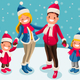 Christmas 2018 Family Wishes Illustration - GraphicRiver Item for Sale