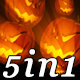 Flame Pumpkin - VJ Loop Pack (5in1) - VideoHive Item for Sale