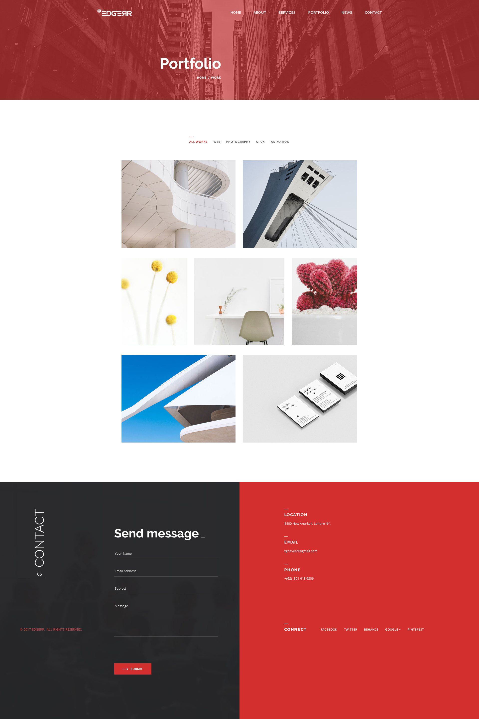Branding portfolio lahore punjab lahore graphic and web design - Edgerr Consulting Finance Business Agency Psd Template