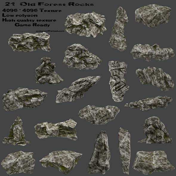 3DOcean old forest rocks 20812959