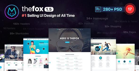 TheFox | Multi-Purpose PSD Template