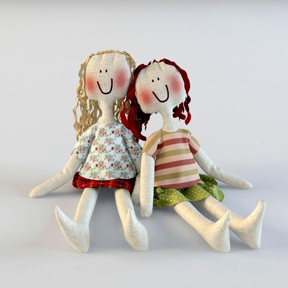 3DOcean Textile doll Tilda toy 20813085