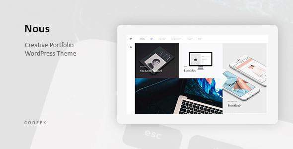 ThemeForest Nous Creative Portfolio WordPress Theme 20701481