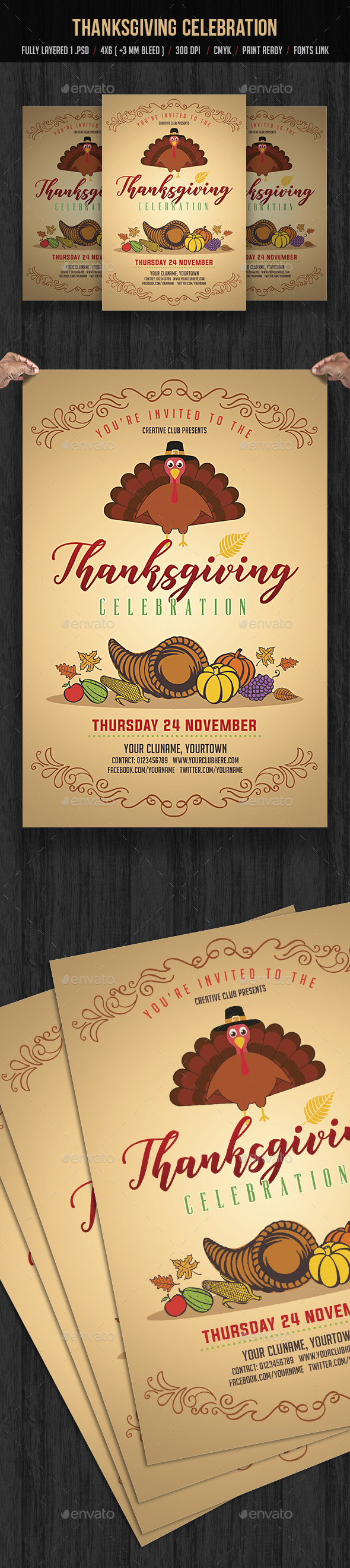 Thanksgiving Celebration - Events Flyers