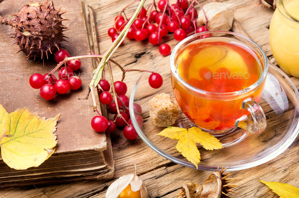 warming autumn tea - Stock Photo - Images