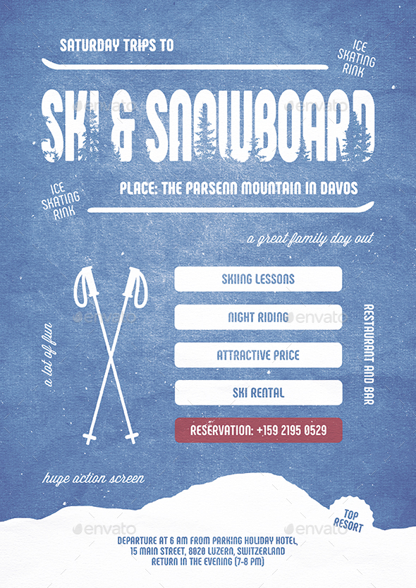 GraphicRiver Ski & Snowboard Flyer Poster 20813680