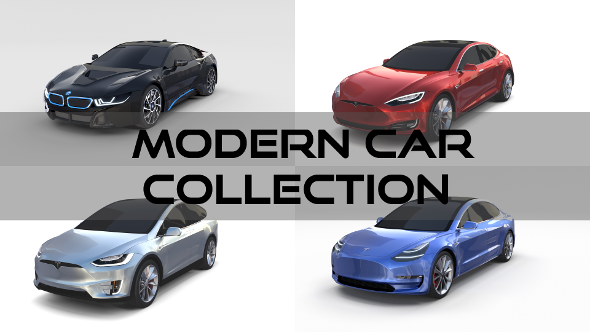 Modern Car Collection - 3DOcean Item for Sale