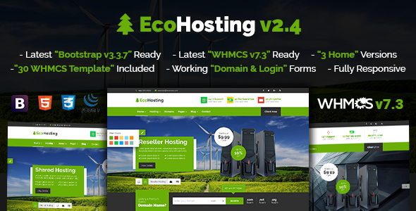 EcoHosting | Responsive HTML5 Hosting and WHMCS Template - Hosting Technology