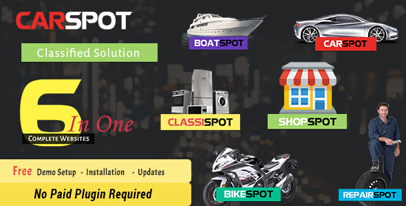 CarSpot - Car Classified - Car Services - Inventory - Classified, Dealership, WP Theme