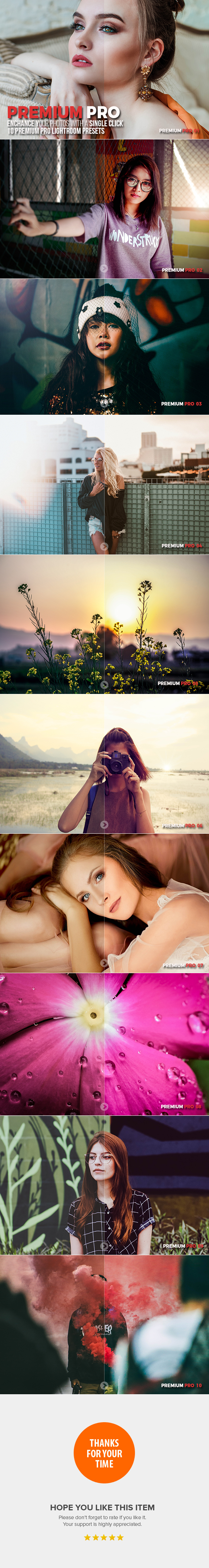 10 Premium Pro Lightroom Presets - Lightroom Presets Add-ons
