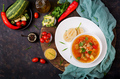 "Minestrone - ""big soup"", soup with many ingredients - a dish of Italian cuisine - PhotoDune Item for Sale"