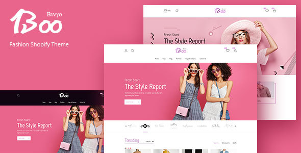 BooShop - Impressive and Stylish Shopify Template - Fashion Shopify