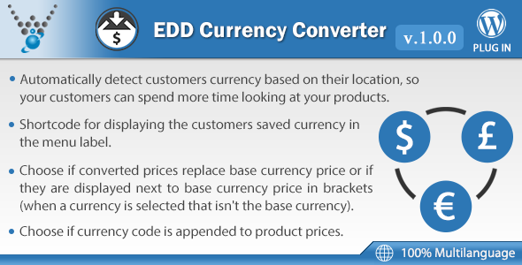 Easy Digital Downloads - Currency Converter Nulled Scripts