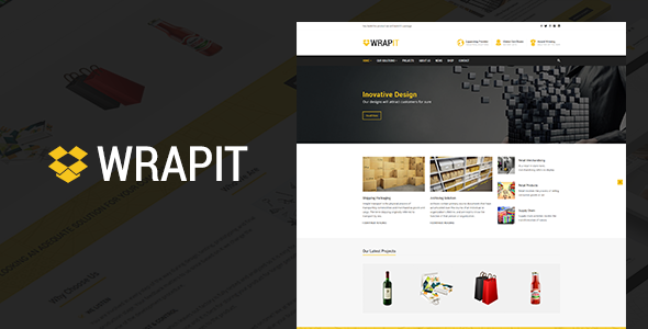 Image of WrapIt - Packaging Company WordPress Theme