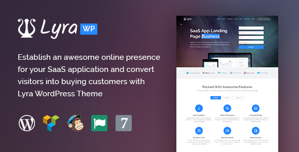 Download Lyra - WordPress SaaS App Landing Page