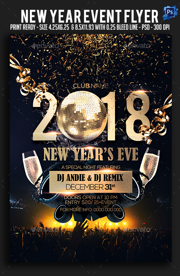 New Year Event Flyer