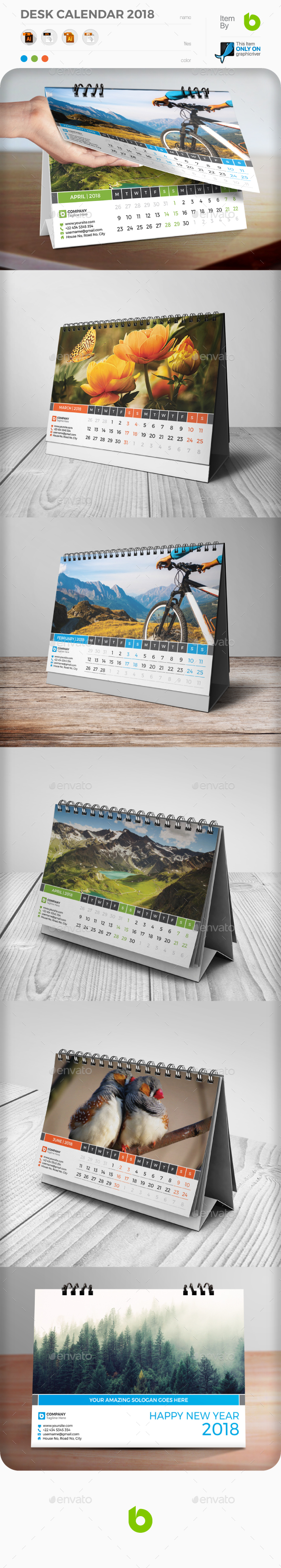 Desk Calendar 2018 - Calendars Stationery