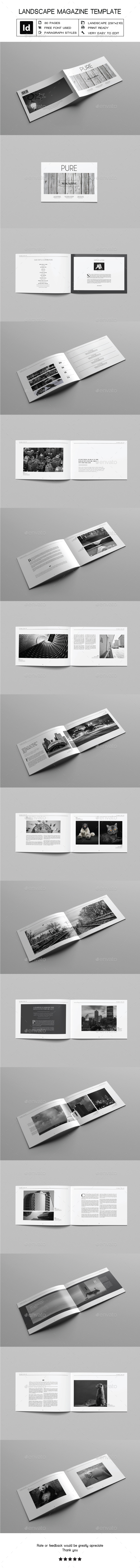 GraphicRiver Landscape Magazine Template 20814632