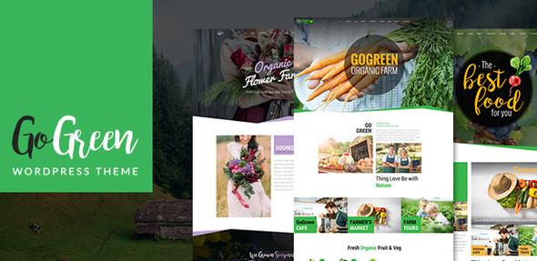 GoGreen: Organic Food, Farm, Market Business WordPress Theme - Business Corporate
