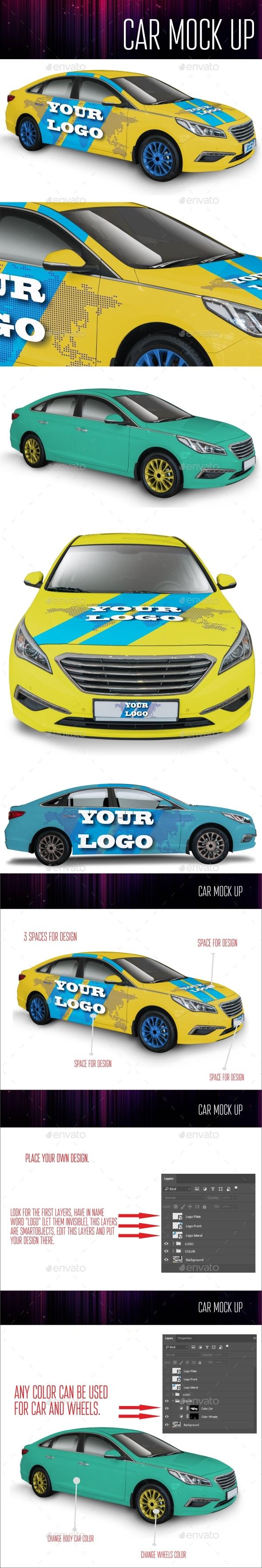 Car Mock Up - Product Mock-Ups Graphics