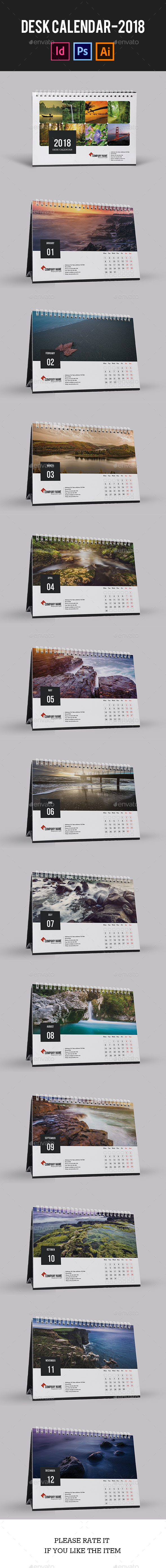 Desk Calendar for 2018 | Updated - Calendars Stationery