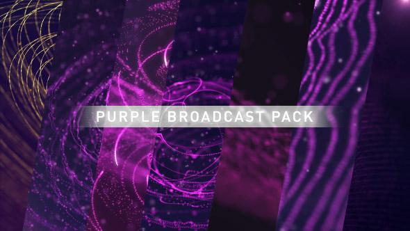 VideoHive Purple Broadcast Pack 20814959