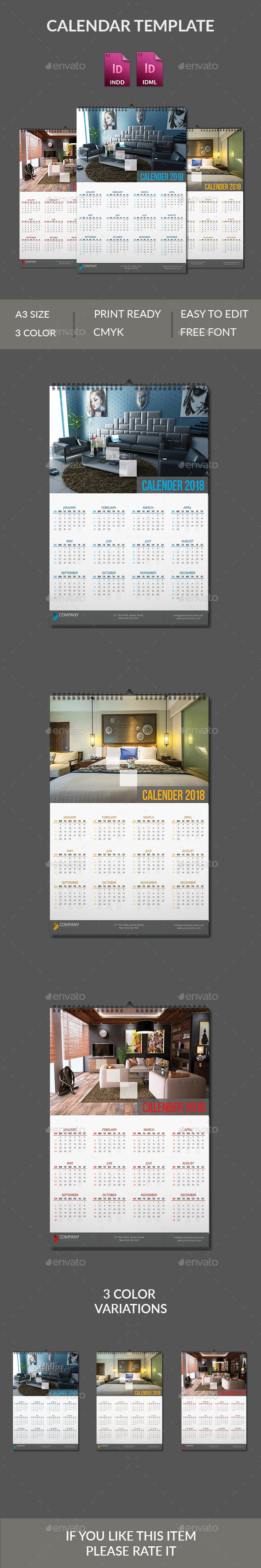 Wall Calendar 2018 - Calendars Stationery