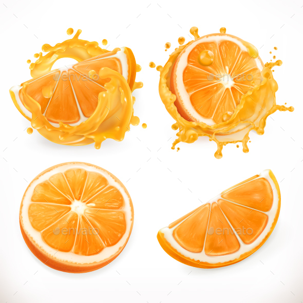 Orange Juice - Food Objects