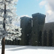 Castle in Snowy Forest - VideoHive Item for Sale