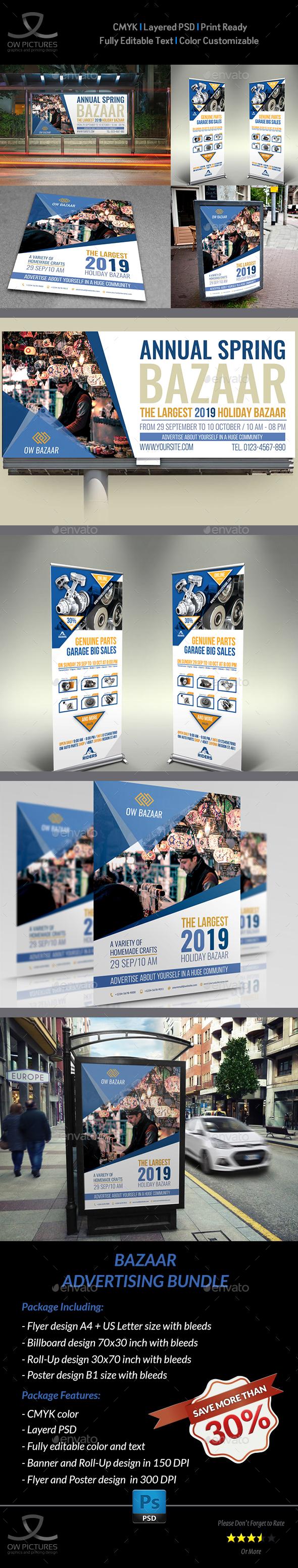 GraphicRiver Bazaar Advertising Bundle 20815233