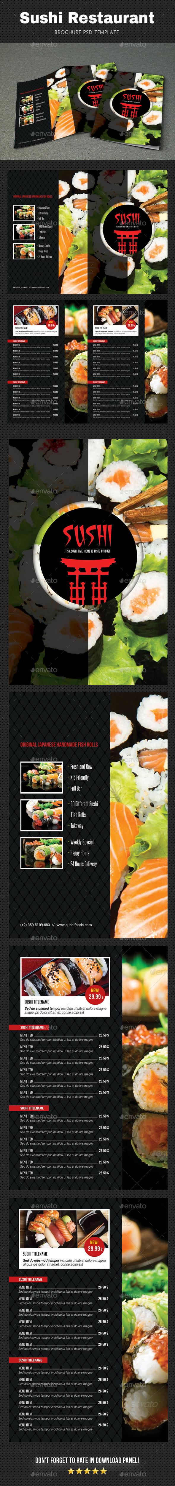 GraphicRiver Sushi Menu Brochure 2 20815326
