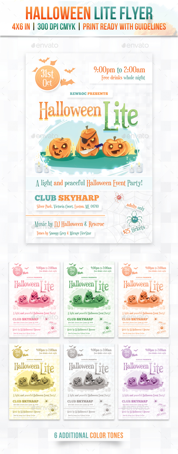 GraphicRiver Halloween Lite Flyer 20815384