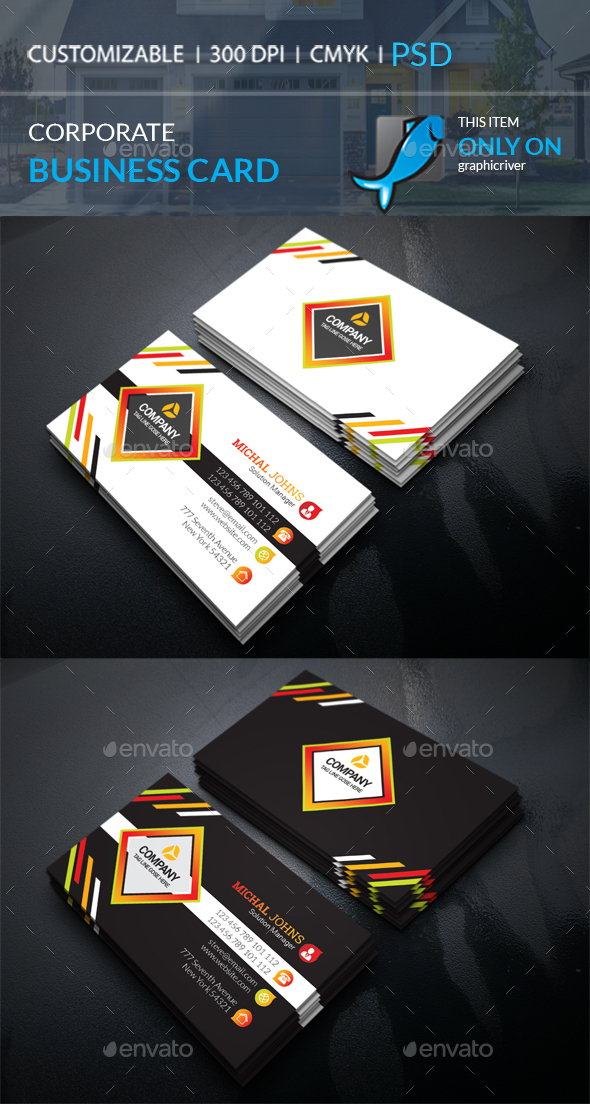 GraphicRiver Corporate Business Card 20815425
