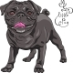 Black Pug Breed - GraphicRiver Item for Sale