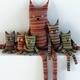 Toys cats textile