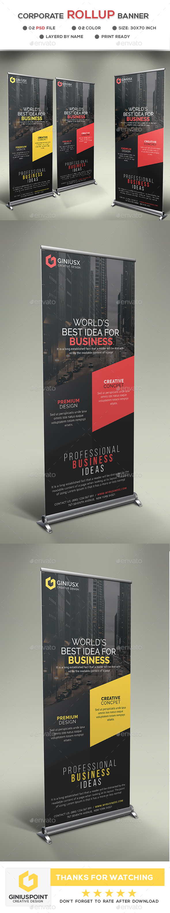 GraphicRiver Corporate Roll-Up Banner 20815586