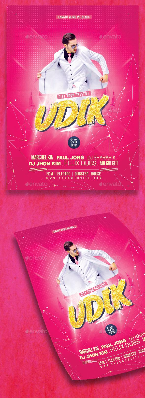 GraphicRiver Udik DJ Party Flyer 20815598