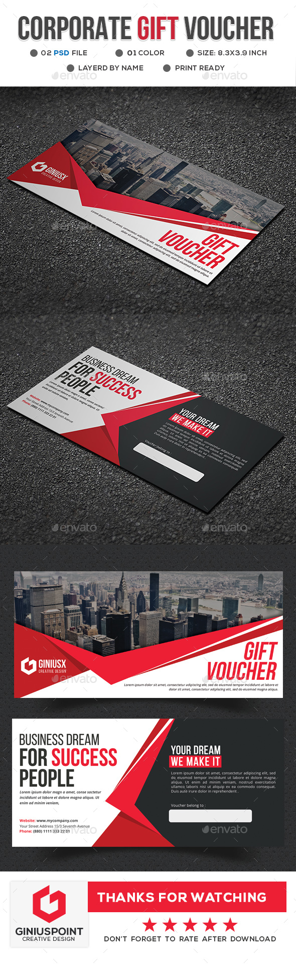 GraphicRiver Corporate Gift Voucher 20815666