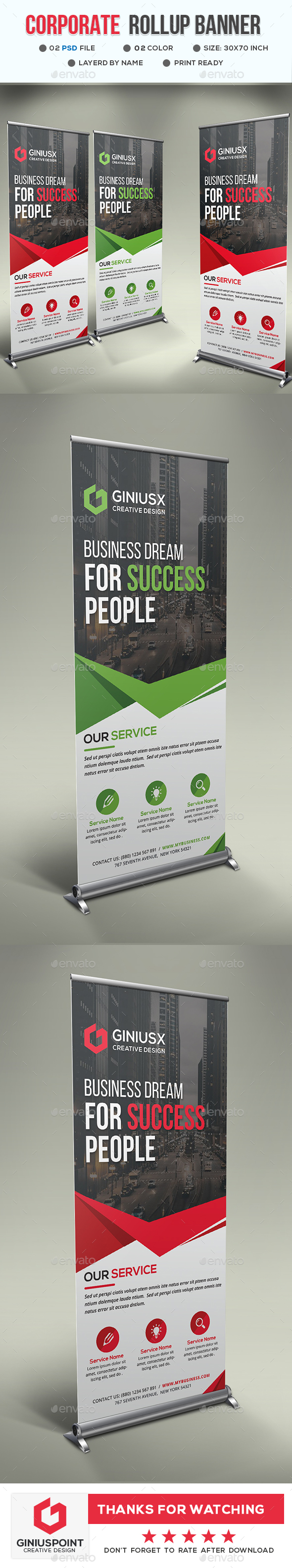 GraphicRiver Corporate Roll-Up Banner 20815669