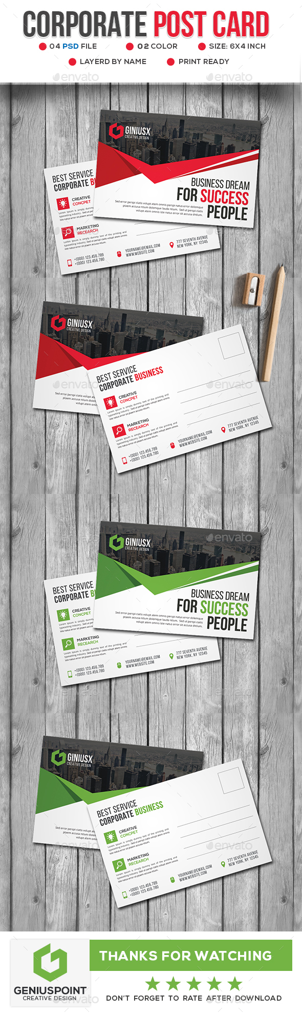 GraphicRiver Corporate Post Card 20815676